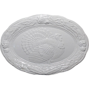 SALE Vintage A. Santos #8102 White Turkey Platter.