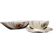 SALE Vintage Lane & Co Turkey Gravy Boat and Vegetable Dish