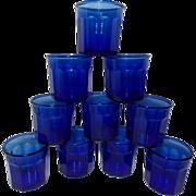 Vintage Luminarc Cobalt Blue Tumblers