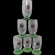 SALE Vintage Set of 6 Wolker Beer Glasses from German Early 60's