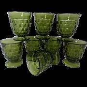 Iconic Vintage Indiana Glass Whitehall Juice Tumbler set of 8