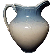 SALE JBP 688 Vintage Blue and White Salt Glaze Stoneware Pitcher