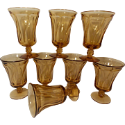 Vintage Fostoria Jamestown  Honey Amber Stemware (8 stems)