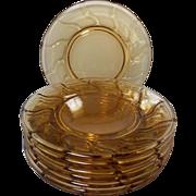 Vintage Fostoria Jamestown Honey Amber Plates
