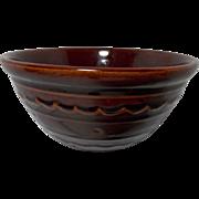 Vintage Mar-Crest Stoneware 1950's Mixing Bowl