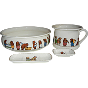 Villeroy & Boch Mettlach Children's Bath & Bedroom Set, C 1920