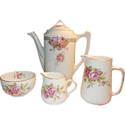 Gorgeous Crown Staffordshire Tea Set with Roses