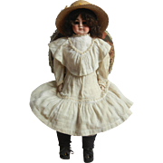 "Pretty Mystery German Bisque Doll Marked ""8""  c.1910"