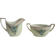 Darling Vintage 1940's German Creamer & Sugar Bowl with Forget-Me-Nots from Z.S ...