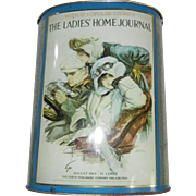 Vintage Metal Trash Can with Ladies' Home Journal Advertising, 2 of 2