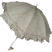 Umbrella for large dolls cross-cut 18 inches , stick 24 inches .