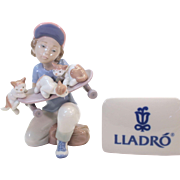 """LIttle Riders - Lladro porcelain figurine 1994 #7623 - 5.5"""" tall - mint condition"""