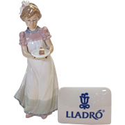 "Happy Birthday Girl - Lladro porcelain figurine 1986 #5429 - 8.5"" tall - mint condition"