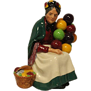The Old Balloon Seller HN1315 Royal Doulton Large Bone Figurine - mint condition - Toby Jug ..