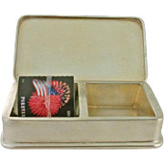 "Sterling Stamp Box by Black, Starr, and Frost. Monogrammed ""CNM"" 1952 Wedding Gift. Pill ."