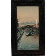 Franklin Dullin Briscoe Venice Canals waterscape watercolor watercolour on paper late 1800s