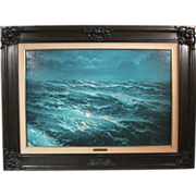 """Edward Barton """"The Open Sea"""" limited edition print 39/275 well-framed"""