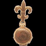 Vintage 1940's Gold Toned Coro Locket Pin