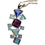 Vintage Premier Designs Arts And Craft Style Necklace