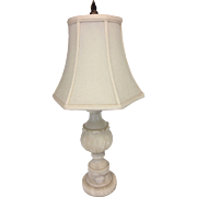 Beautiful Alabaster 1920s-1940s Vintage Lamp Fine Shade 22""