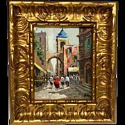 Wonderful Vintage Mid-Century 1950s Original Oil Painting by Listed Artist Antonio Devity