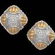 Estate Retro HUGE Hammerman Brothers 18K Gold Platinum G/H VS 1.0 cttw Diamond ...