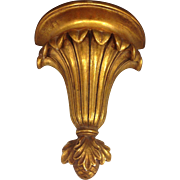Beautiful Stylish Vintage Unique Gilt Gesso Over Wood Gilt Wall Sconce
