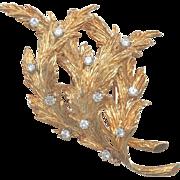 HUGE Vintage Estate 1960s/1970s CARTIER Designer G VS Diamond 18k Gold Pin Pendant Brooch