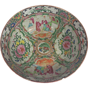 "Wonderful Chinese Rose Medallion Medium Sized Bowl Early 1900s, 9"" Wide"