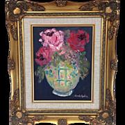 "Floral Still Life, Original Oil Painting by Artist Sarah Kadlic, Impasto Style, 8x10"", Gi"