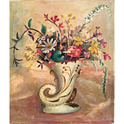 Floral Still Life Original Oil Painting by Listed American Impressionist Walter Alexander ...
