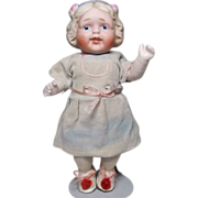 SOLD Nippon Character Doll with Molded Hair Molded Hair Decoration All Original