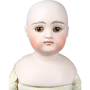 SOLD Closed Mouth German Shoulder Head Doll on Kid Body