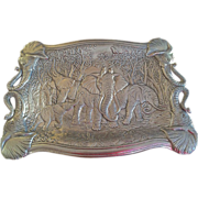 """SOLD Arthur Court Elephant Clutch Tray 19"""" by 14"""" - Red Tag Sale Item"""