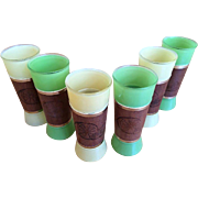 SALE Frosted Tiki Glasses Set of 6