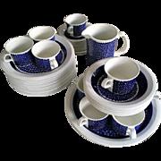 50 Piece Rare Danish Earthenware Set
