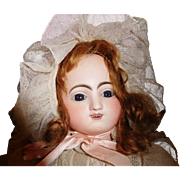 18'' Antique Kicking/Crying Gigateur Steiner French Doll, Orig. Label On Body