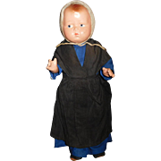 "12"" Antique Composition ""Grumpy"" By Effanbee Dressed Originally As Amish Doll."