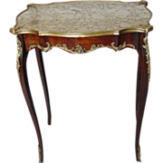 Louis XVI Style Ormolu Mounted Marble Top Table