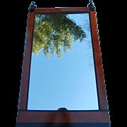 19th Century Biedermeier Fruitwood and Ebonized Mirror