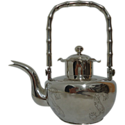 SOLD Chinese Export Silver Tea Pot