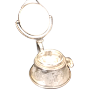 SOLD Vintage Silver Shaver stand with mirror