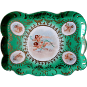 1890-1918 Carlsbad Victoria Cherubs Porcelain Tray