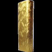 Cartier Paris 14k Gold Plated Cigarette Lighter Brushed Florentine Finish