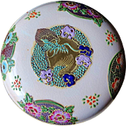 Vintage Japanese Morimura Brothers Satsuma Porcelain Trinket Box With Moriage