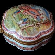 """Porcelaine De Paris Trinket Box For The National Trust Collection """"Woodlawn Mt. Vernon Vi"""
