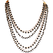 Spinel  and Vermeil Chain Necklace