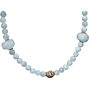 Amazonite and Cloisonné Bead Necklace