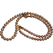 Pink Freshwater Pearl Necklace with Ametrine