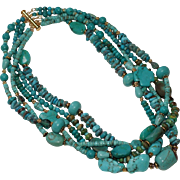 The Many Shades of Turquoise Statement Necklace